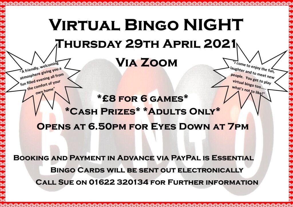 Virtual Bingo April 2021A 1